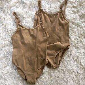 Bundle of 2 Nude Dance Camisole Leotards